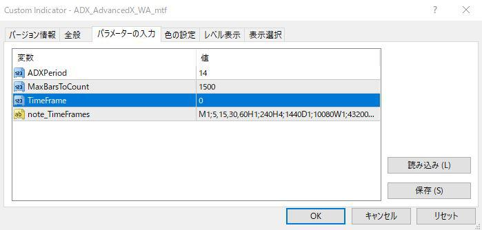ADX_AdvancedX_WA_mtfパラメーター画像