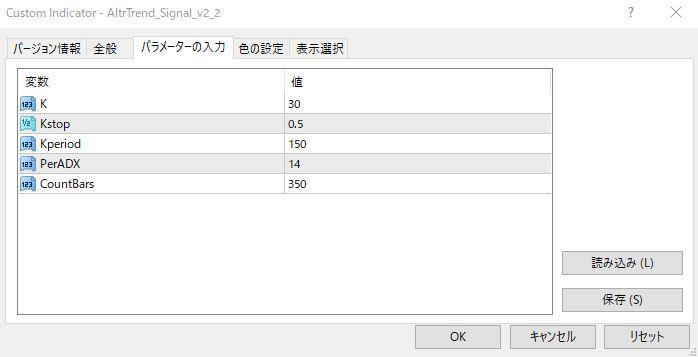 AltrTrend_Signal_v2_2パラメーター画像