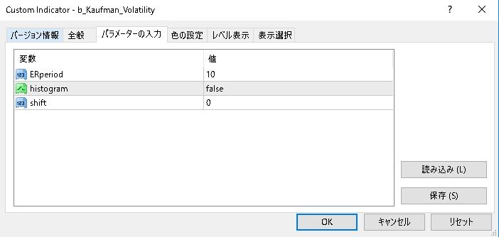 b_Kaufman_Volatilityパラメーター画像
