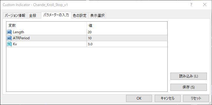 ChandelierStops_v1パラメータ画像