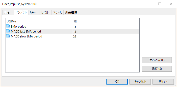 Elder_Impulse_Systemパラメーター画像
