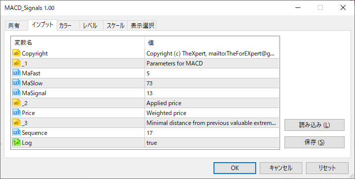 MACD_Signalsパラメーター画像