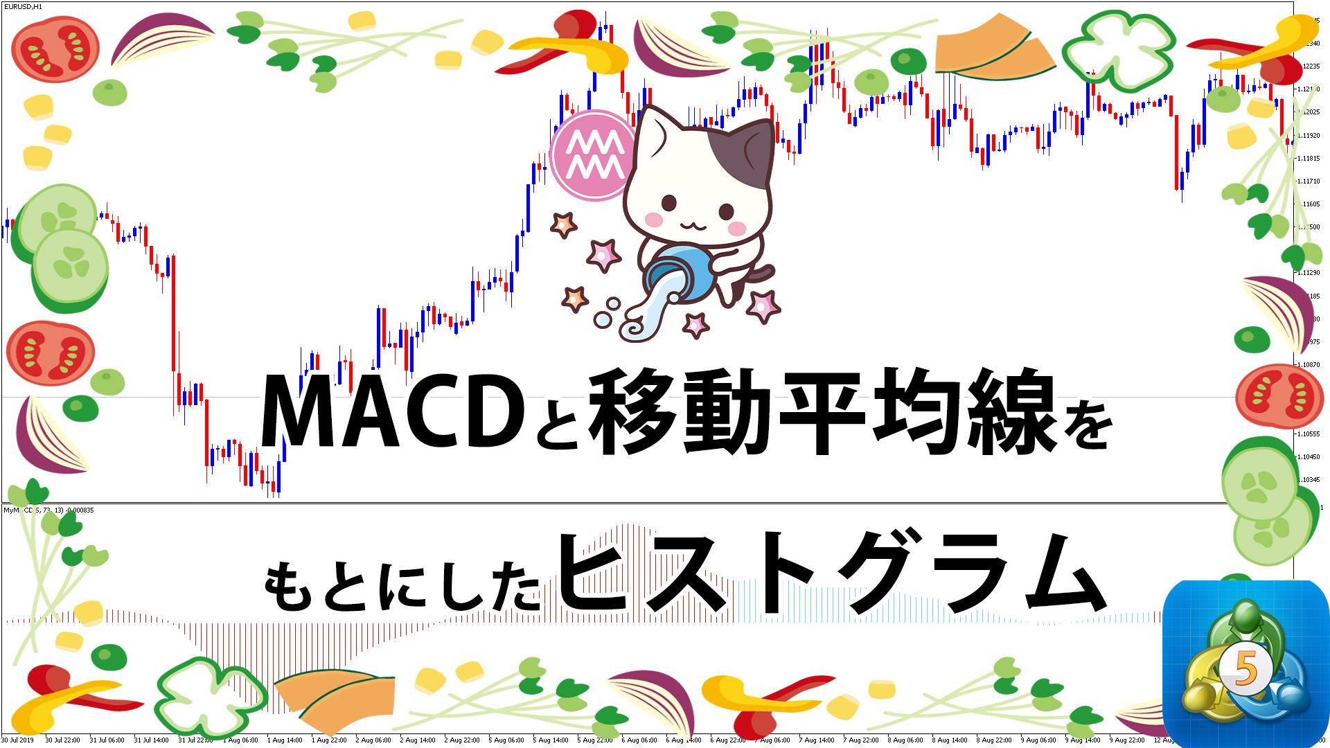 MACDと移動平均線をもとにしたヒストグラムを表示するMT5インジケーター「MACD_Signals」