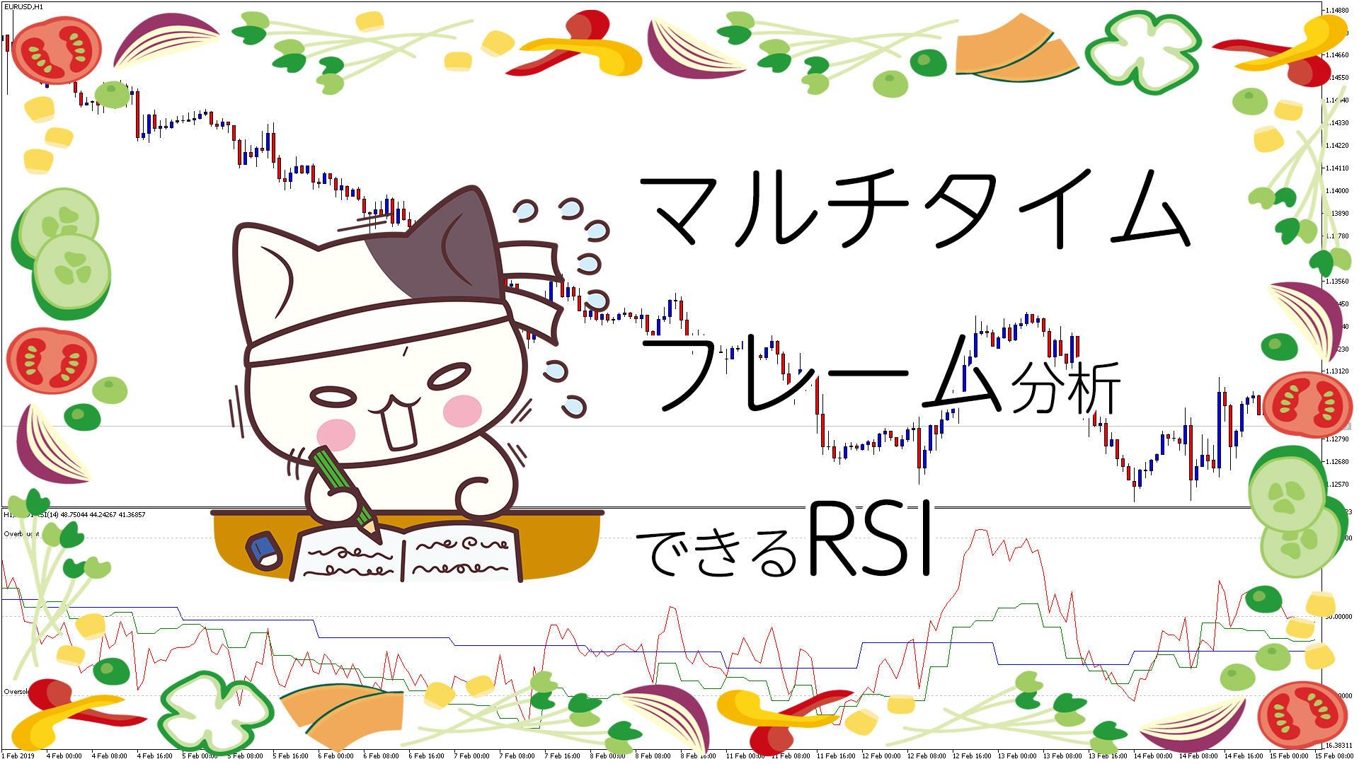 マルチタイムフレーム分析できるRSIを表示するMT5インジケータ-「MTF_RSI」