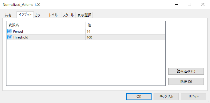 Normalized_Volumeパラメーター画像