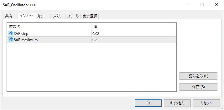 SAR_Oscillator2パラメーター画像