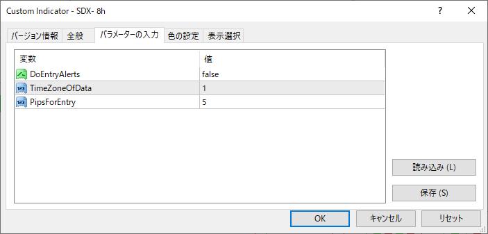 SDX-8hパラメーター画像