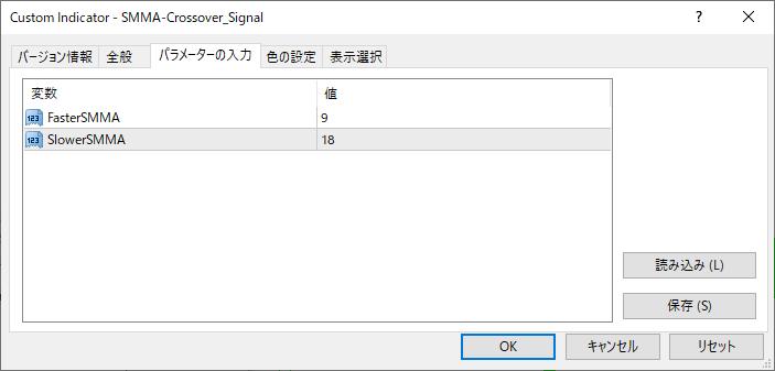 SMMA-Crossover_Signalパラメーター画像