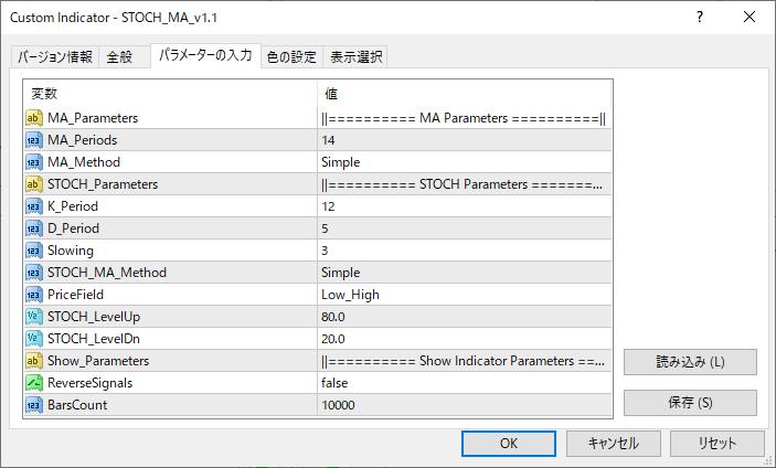 STOCH_MA_v1.1パラメーター画像