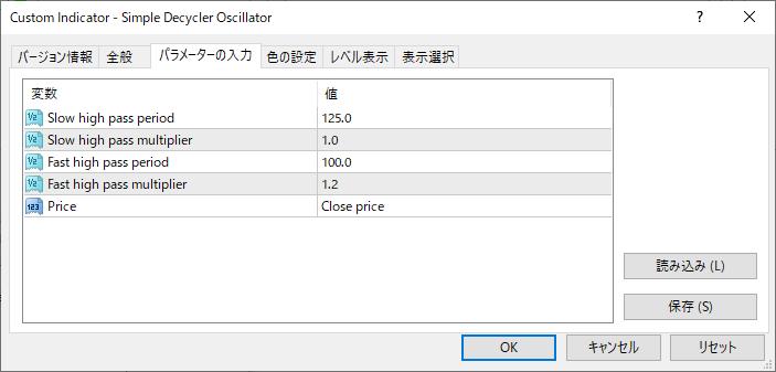 Simple_Decycler_Oscillatorパラメーター画像