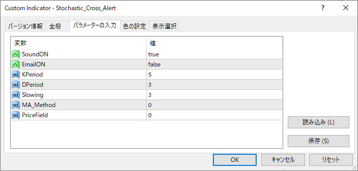 Stochastic_Cross_Alertパラメーター画像