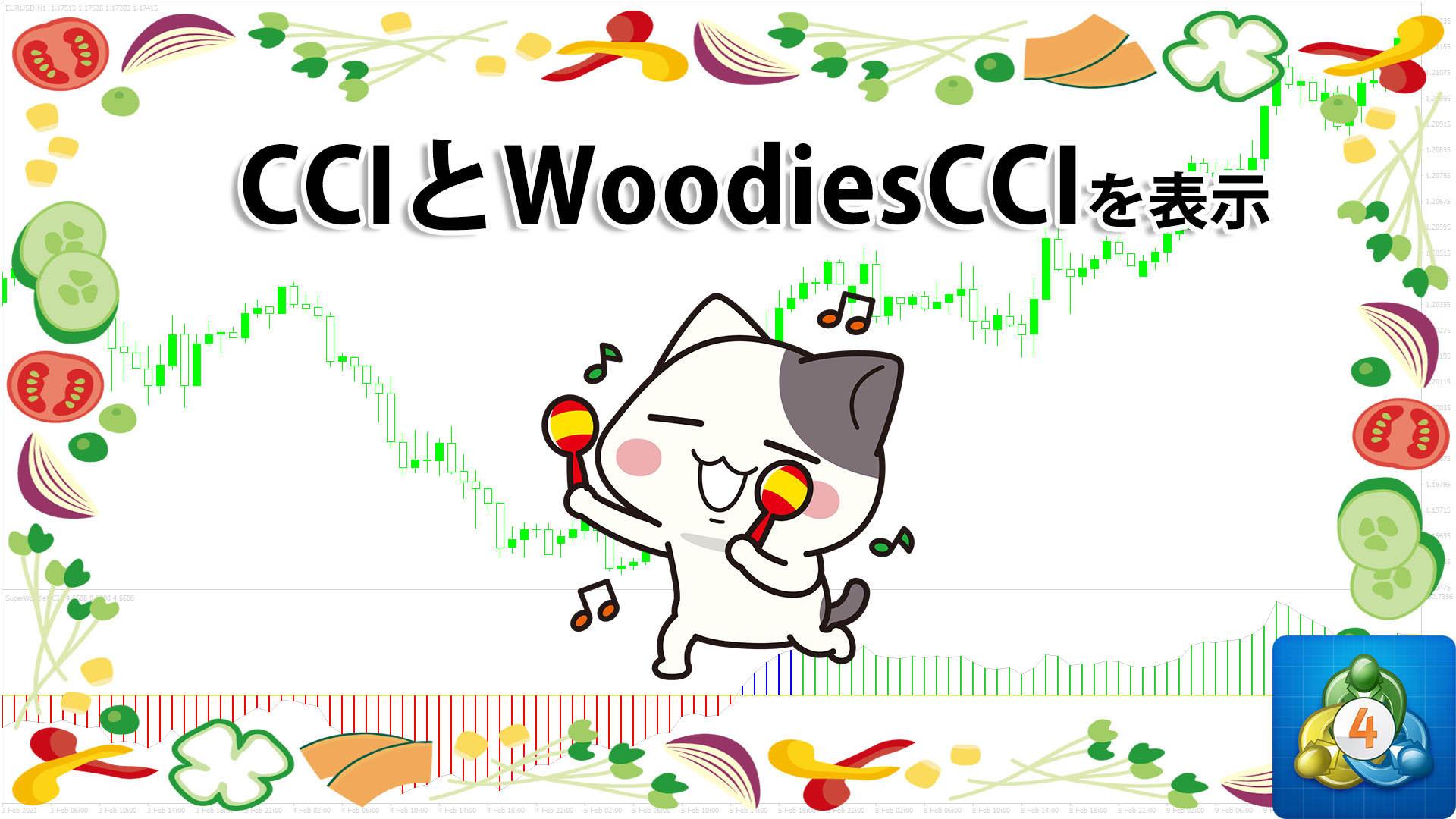 CCIとWoodiesCCIの両方を表示できるMT4インジケーター「SuperWoodieCCI2」
