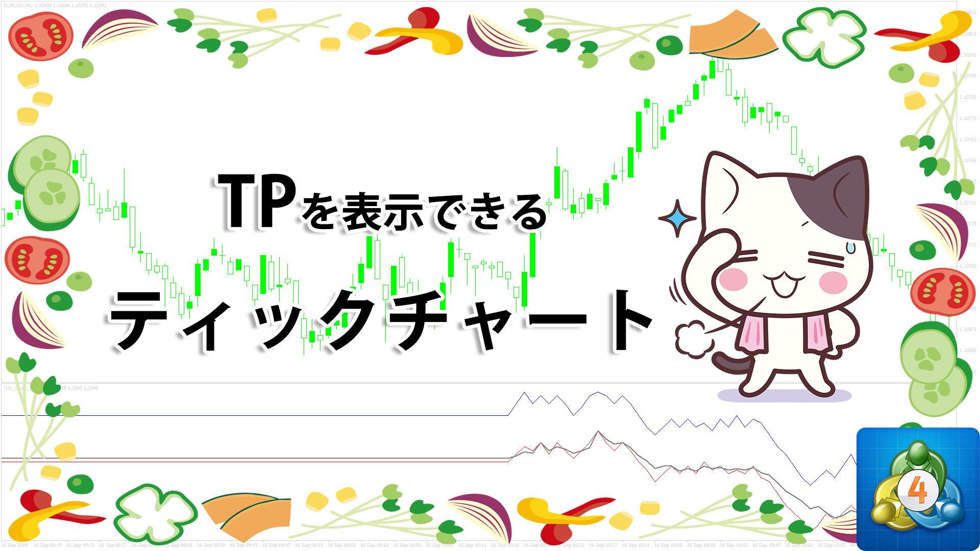 ティックチャートにTPを表示できるMT4インジケーター「Tick_Chart_+_Typical」