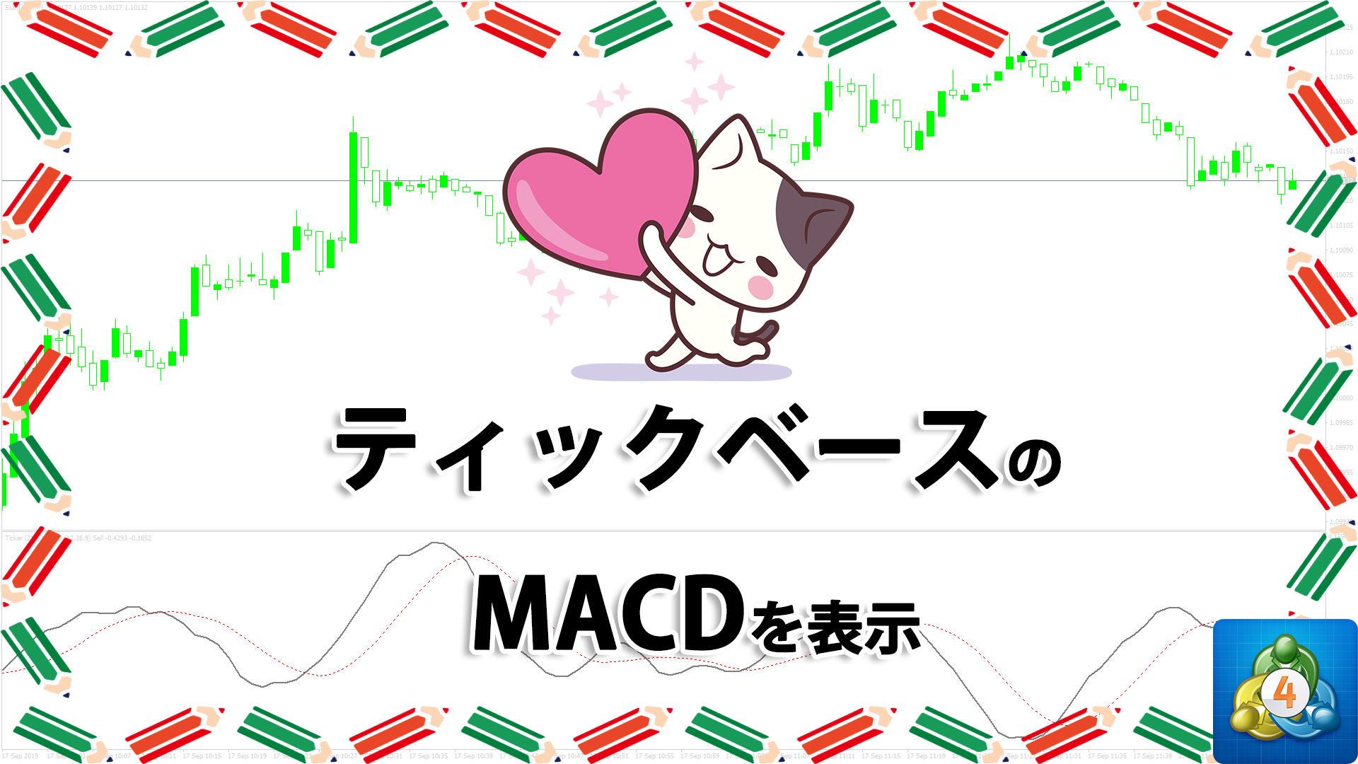 ティックチャートをベースにしたMACDを表示するMT4インジケーター「Ticker_MACD」