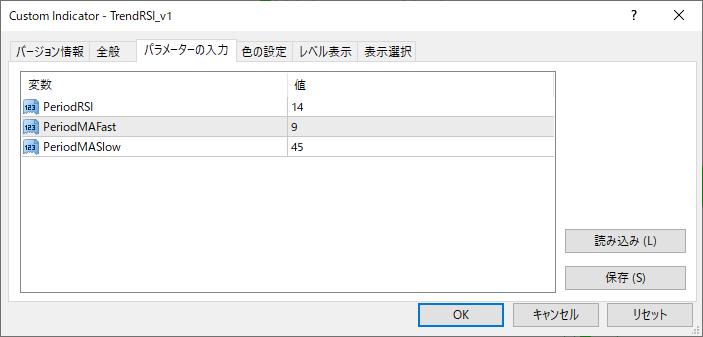 TrendRSI_v1パラメーター画像