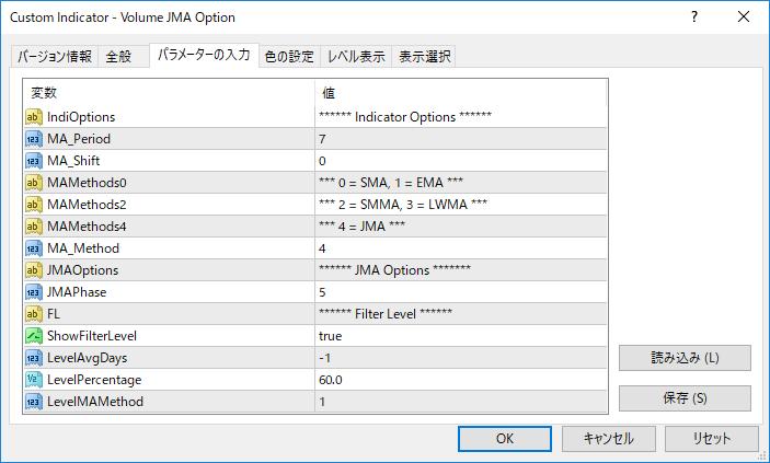 Volume_JMA_Optionパラメーター画像