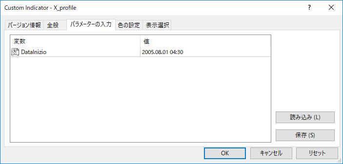 X_profileパラメーター画像