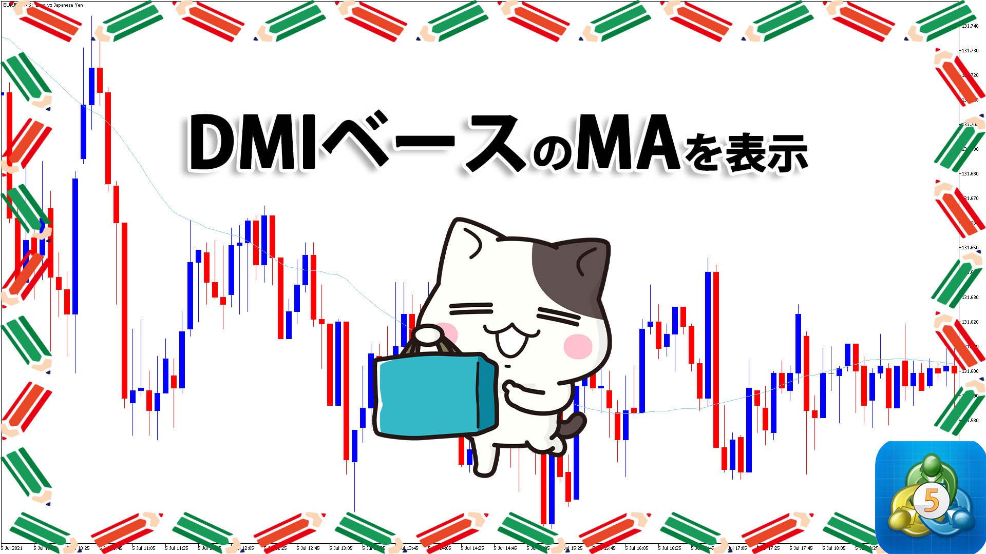 DMIをもとにした移動平均線を表示するMT5インジケーター「dxmas」