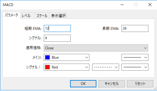 MACDパラメーター画像