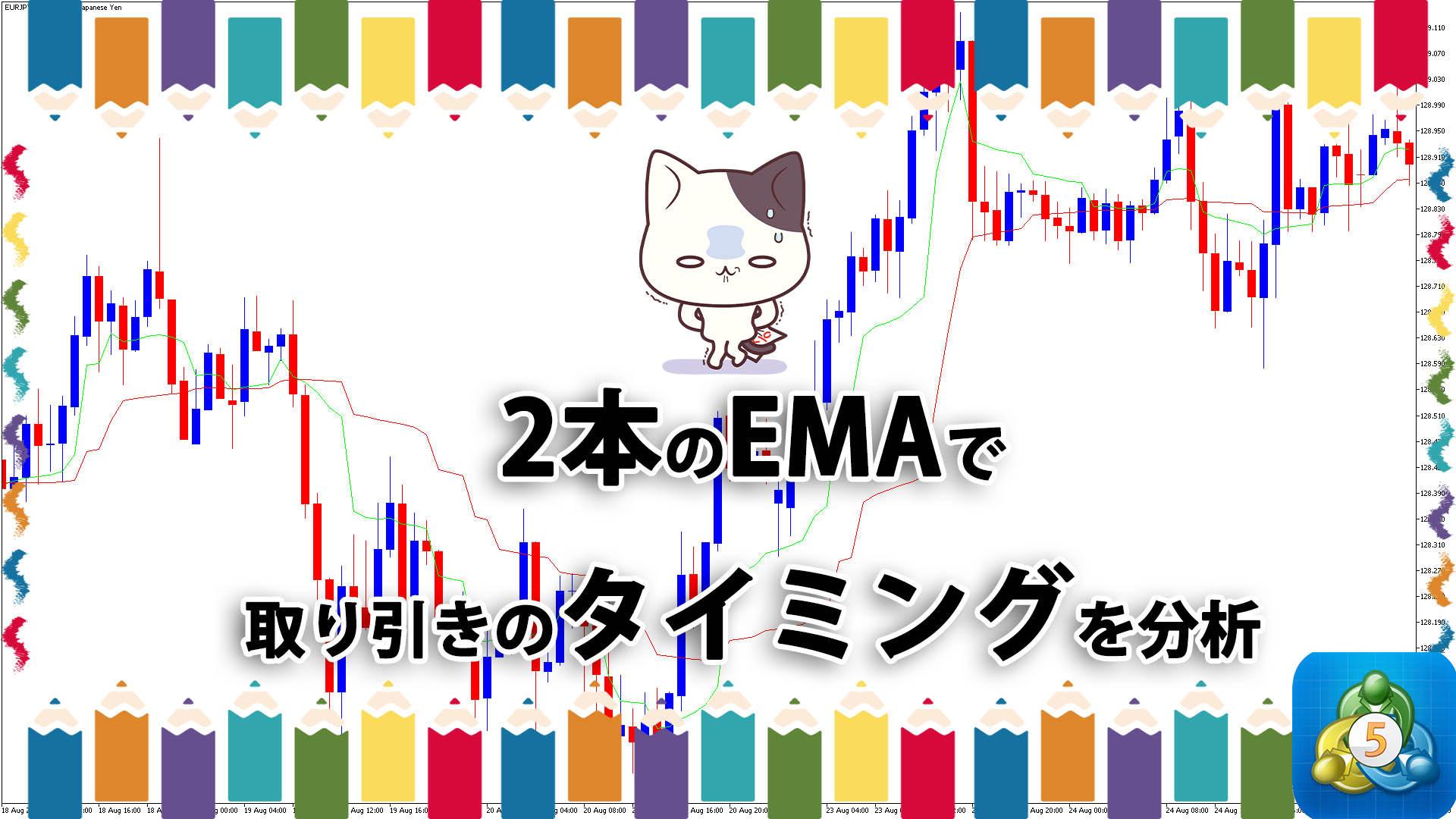 2本の指数平滑移動平均線で取引のタイミングを表示するMT5インジケーター「mama_optim」