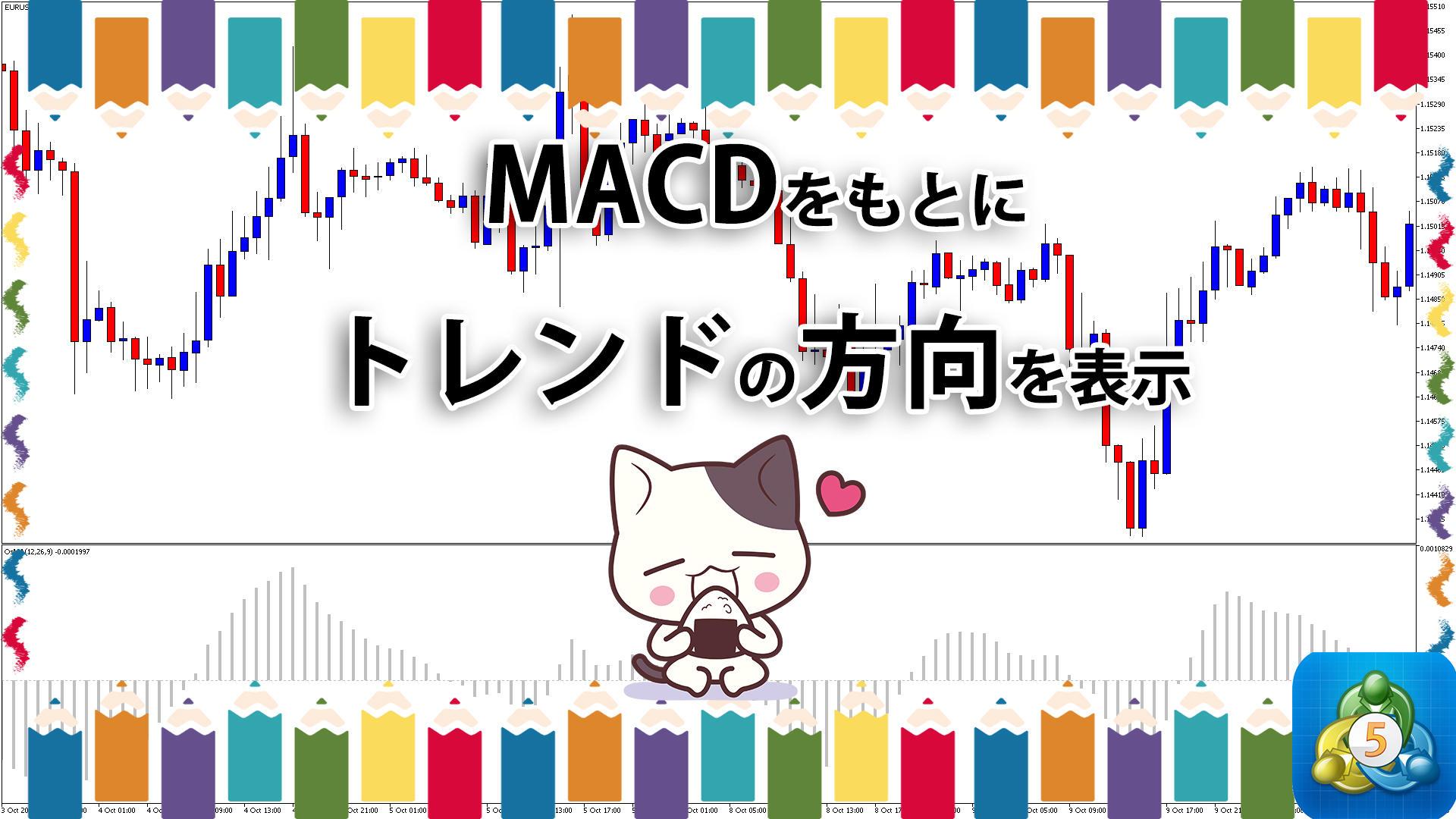 MACDとMACDシグナルの差をもとにトレンドの方向を表示するMT5インジケーター「osma」