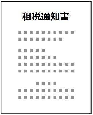 租税通知書
