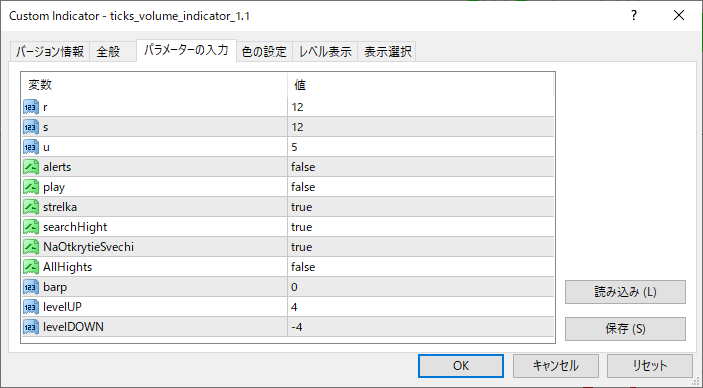 ticks_volume_indicator_1.1パラメーター画像